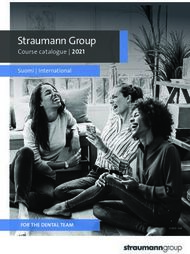 Straumann Group Course catalogue