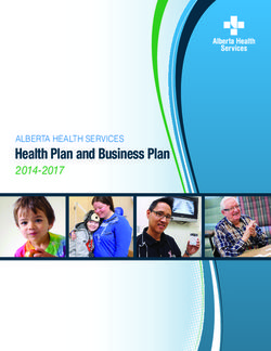 Health Plan and Business Plan 2014-2017 ALBERTA HEALTH SERVICES