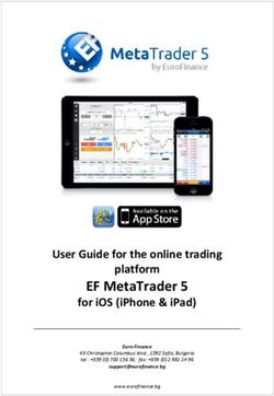EF MetaTrader 5 - User Guide for the online trading