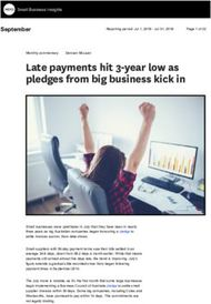 Late payments hit 3-year low as pledges from big business kick in