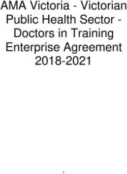AMA Victoria - Victorian Public Health Sector - Doctors in Training Enterprise Agreement 2018-2021