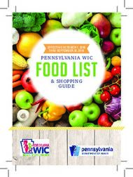 FOOD LIST - Pennsylvania WIC