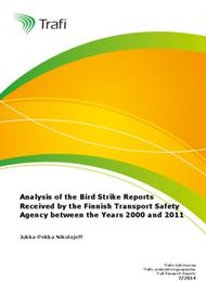 Analysis of the Bird Strike Reports Received by the Finnish Transport Safety Agency between the Years 2000 and 2011