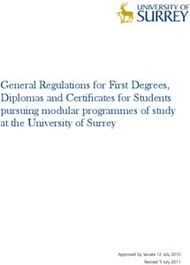 General Regulations for First Degrees, Diplomas and Certificates for Students pursuing modular programmes of study at the University of Surrey