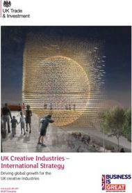 UK Creative Industries - International Strategy
