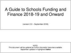 A Guide to Schools Funding and Finance 2018-19 and Onward