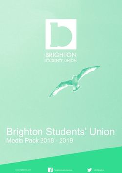 Brighton Students' Union - Media Pack 2018 2019