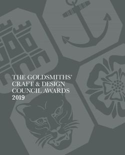 THE GOLDSMITHS' CRAFT & DESIGN COUNCIL AWARDS 2019 The
