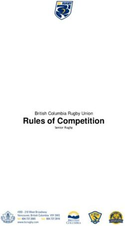 Rules of Competition - British Columbia Rugby Union