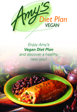 Enjoy Amy's Vegan Diet Plan and discover a healthy new you!