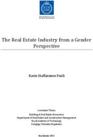 The Real Estate Industry from a Gender Perspective