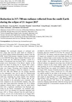Reduction in 317-780 nm radiance reflected from the sunlit Earth