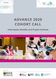 ADVANCE 2020 COHORT CALL - Information Booklet and Project Outlines