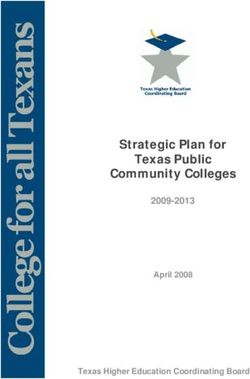 Strategic Plan for Texas Public Community Colleges