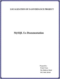 MySQL 5.x Documentation LOCALIZATION OF E-GOVERNANCE PROJECT