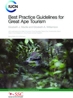 Best Practice Guidelines for Great Ape Tourism Elizabeth J. Macfie and Elizabeth A. Williamson