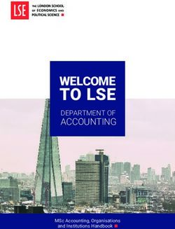 TO LSE - WELCOME ACCOUNTING DEPARTMENT OF