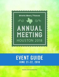 Event guide - State Bar of Texas