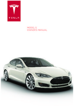 Tesla Motors Model S. Owner's Manual 2013.