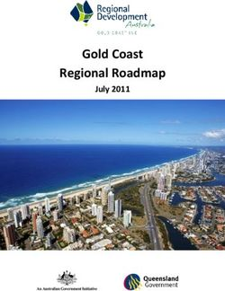 Gold Coast Regional Roadmap - July 2011