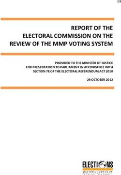 REPORT OF THE ELECTORAL COMMISSION ON THE REVIEW OF THE MMP VOTING SYSTEM
