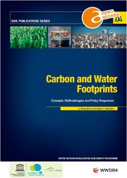 Carbon and Water Footprints :04 Concepts, Methodologies and Policy Responses