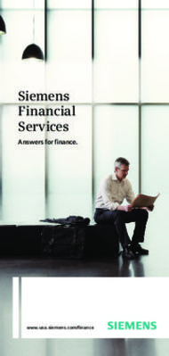 Siemens Financial Services. Answers for Finance.