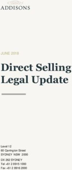 Direct Selling Legal Update - JUNE 2018