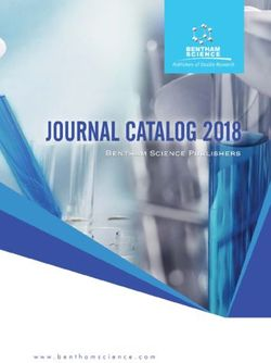 JOURNAL CATALOG 2018 Bentham Science Publishers
