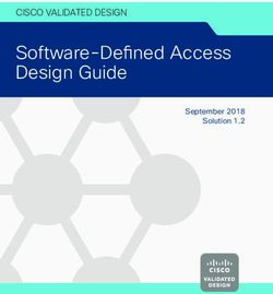 Software Defined Access Design Guide September 2018 Solution 1 2 Cisco
