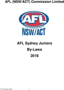 AFL Sydney Juniors By-Laws 2018