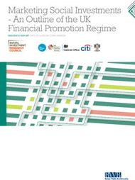 Marketing Social Investments - An Outline of the UK Financial Promotion Regime