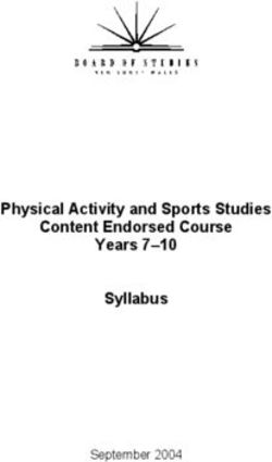 Physical Activity and Sports Studies Content Endorsed Course Years 7-10 Syllabus