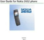 User Guide for Nokia 2652 phone
