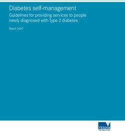 Diabetes self-management Guidelines for providing services to people newly diagnosed with Type 2 diabetes