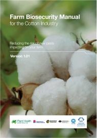 Farm Biosecurity Manual - for the Cotton Industry
