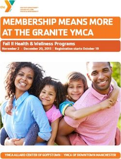 MEMBERSHIP MEANS MORE AT THE GRANITE YMCA