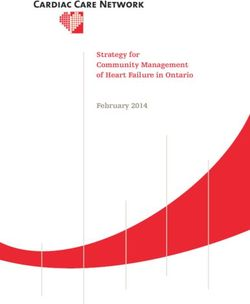 Strategy for Community Management of Heart Failure in Ontario