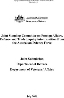 Joint Standing Committee on Foreign Affairs, Defence and Trade Inquiry into transition from the Australian Defence Force