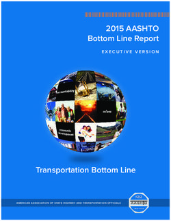 2015 AASHTO - Bottom Line Report