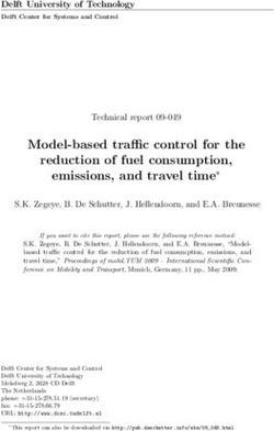 Model-based traffic control for the reduction of fuel consumption, emissions, and travel time