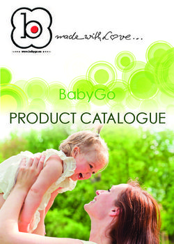 BabyGo Product Catalogue
