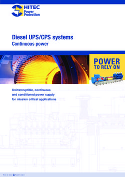 Diesel UPS/CPS systems - Continuous power