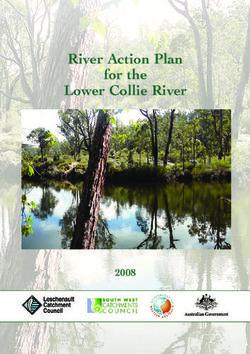 River Action Plan for the Lower Collie River