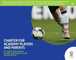 CHARTER FOR ACADEMY PLAYERS AND PARENTS