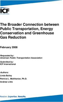 The Broader Connection between Public Transportation, Energy Conservation and Greenhouse Gas Reduction