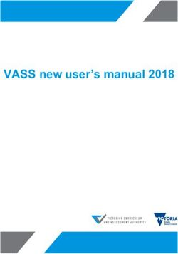 VASS new user's manual 2018