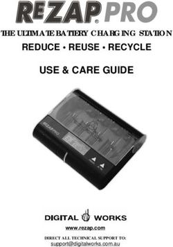 Use & care guide reduce reuse recycle the ultimate battery charging station