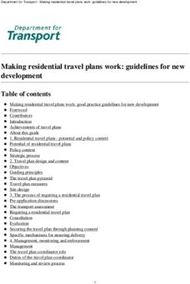 Making residential travel plans work: guidelines for new development