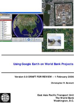 Using Google Earth on World Bank Projects